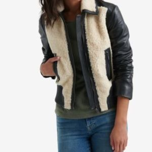 LUCKY BRAND Sherpa Leather Jacket NWT